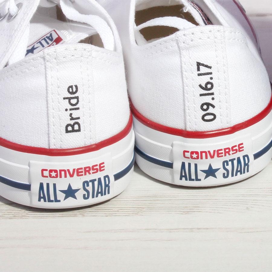 Custom Made Bridal Shoes Uk: Bride Or Groom Custom Converse Heel Tag