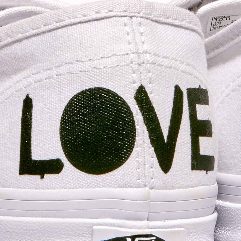 Love Hope Customised Vans Shoes Or Your Slogan Wedding