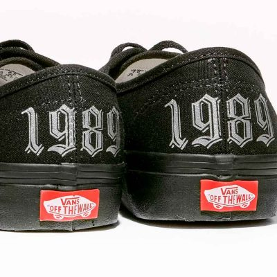 Custom Vans Shoes Black Authentic With Your Year