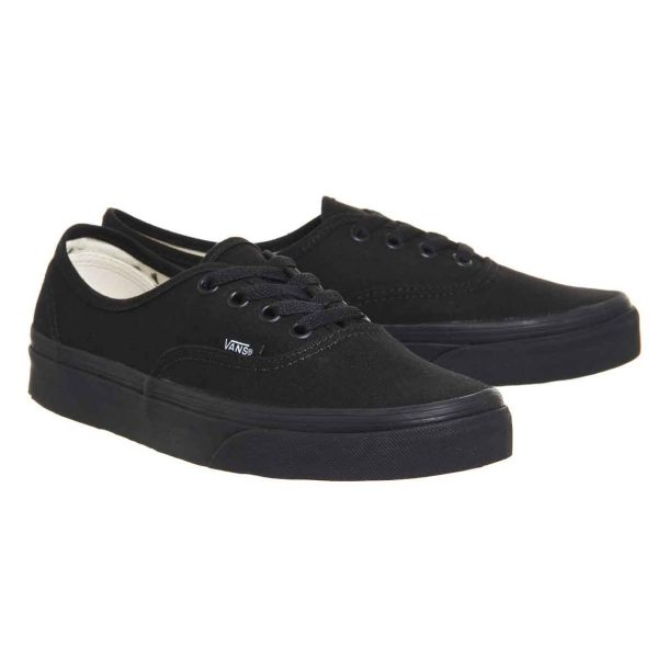 Authentic Black Custom Vans Shoes