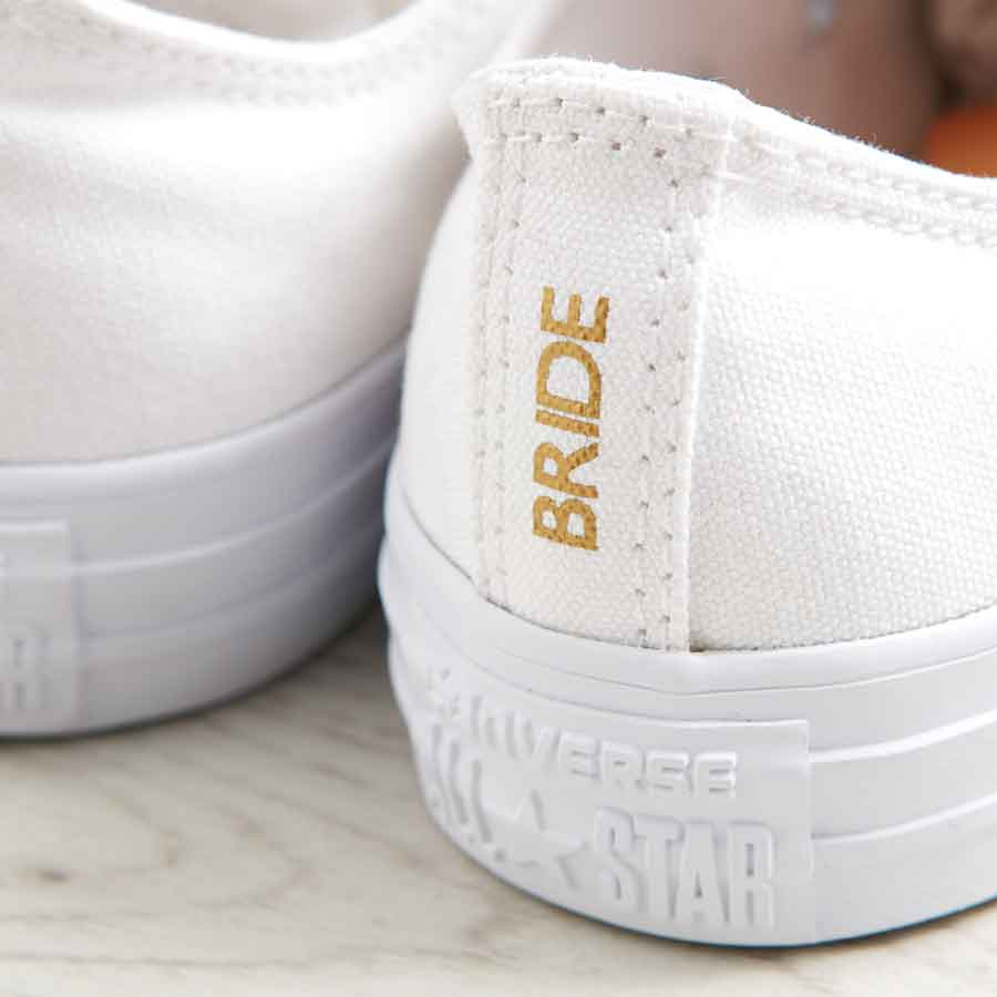 ad736815d4d2 Mr and Mrs Heel Tags · Bride Wedding Converse Heel. Bride Wedding Converse
