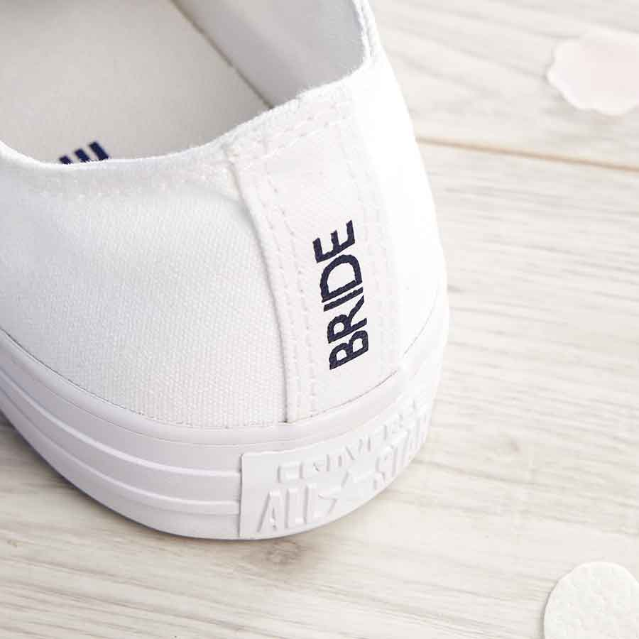 e33ada383be2 Mrs and Mrs Heel Tags Converse Ox - Wedding Converse