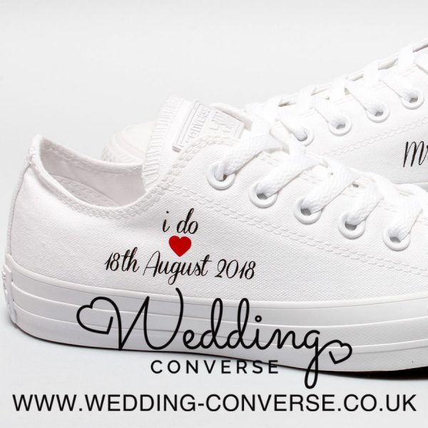 customised wedding converse