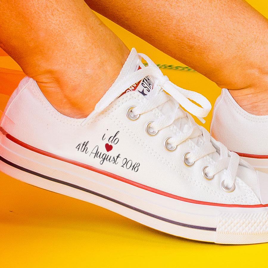 6d942b0647a1 I Do  Bride Converse Classic OX Wedding Converse - Wedding Converse