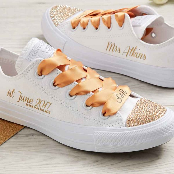 Wedding Converse Gold