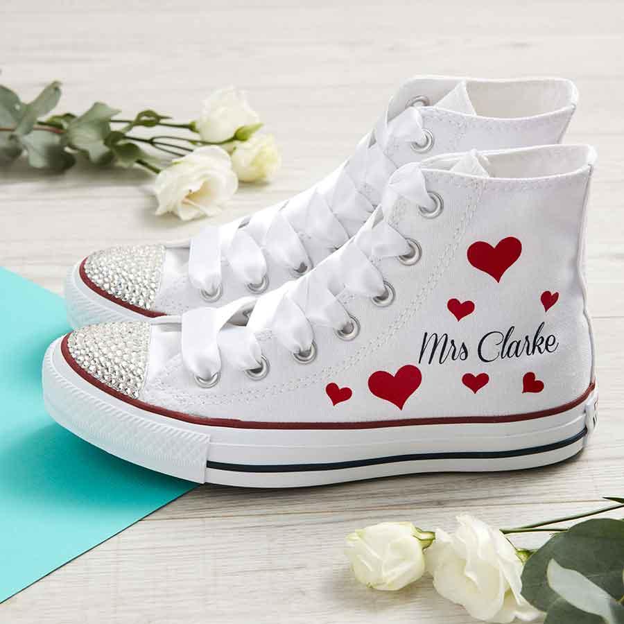 4d9d6d80ac1 Heart Attack Custom Wedding Converse - Wedding Converse