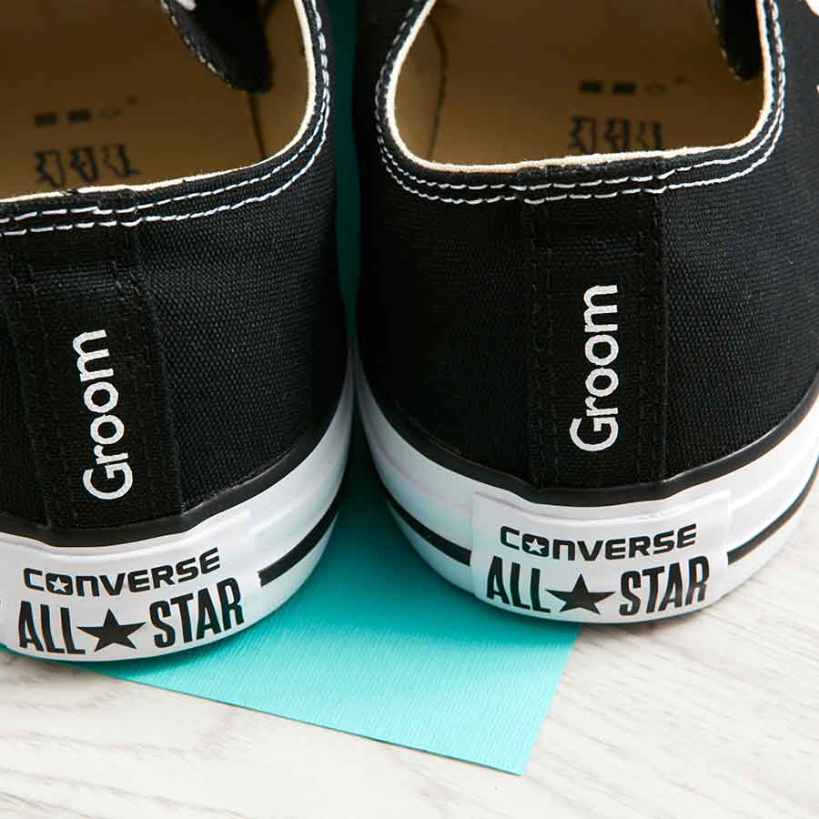 ac72d5a8bf27 Groom Converse Heel Tags Classic Ox (3 Colours) - Wedding Converse