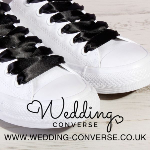 black wedding converse