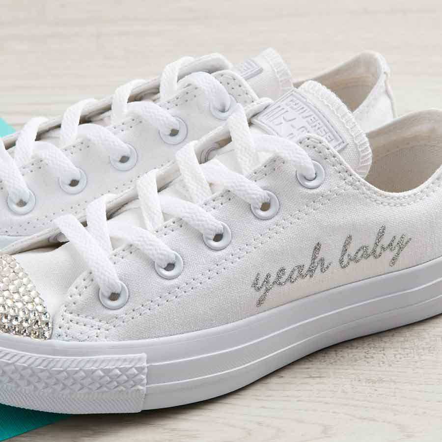 Wedding Converse: Yeah Baby Shoes Or Customise With Your Slogan