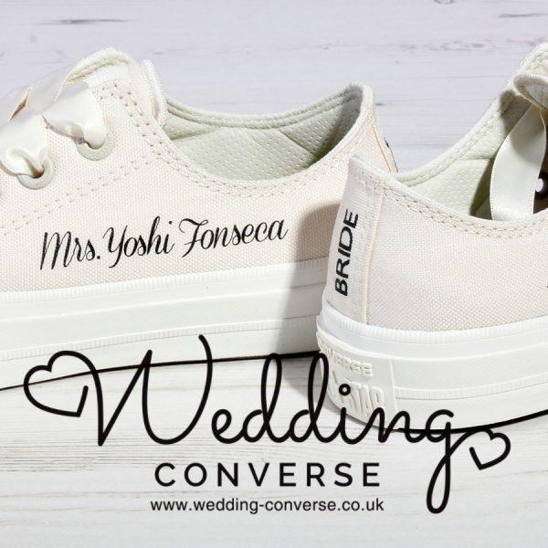 ivory wedding converse