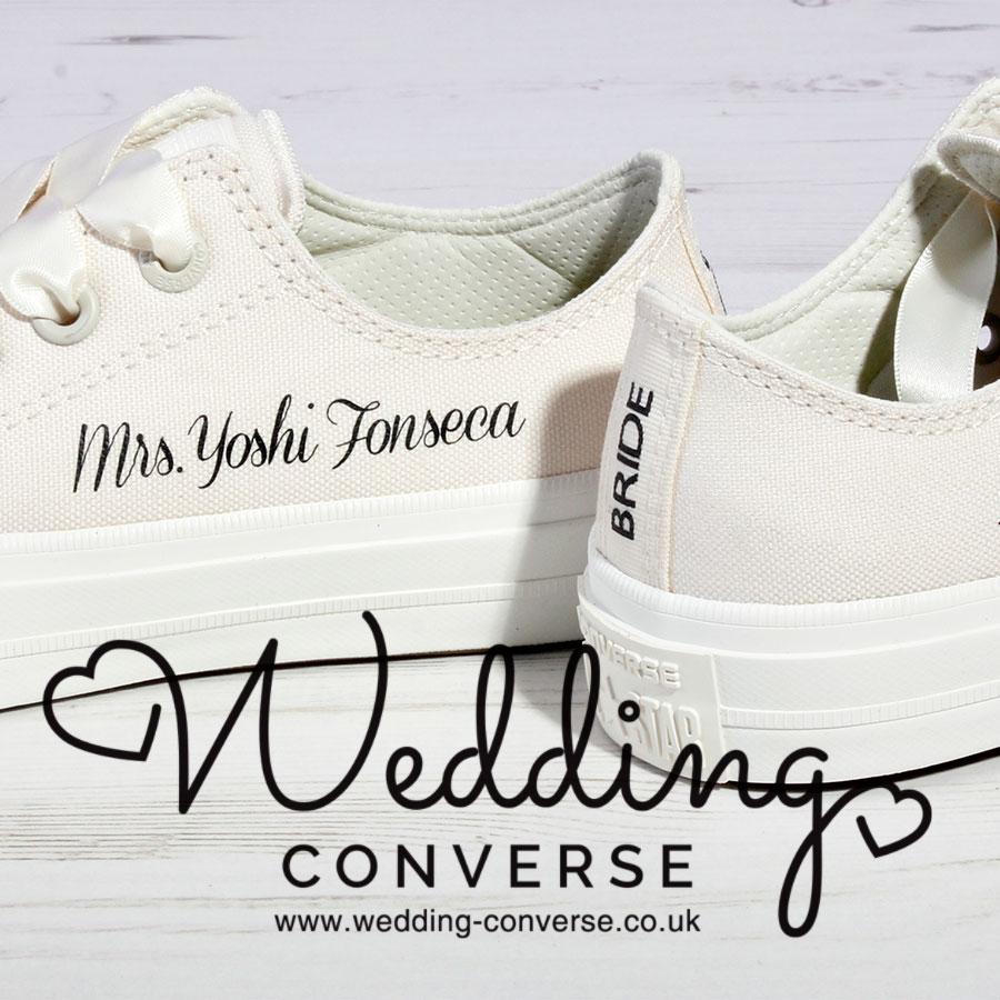 45628d6d1a8 Bride Converse l Custom Converse l Wedding Shoes