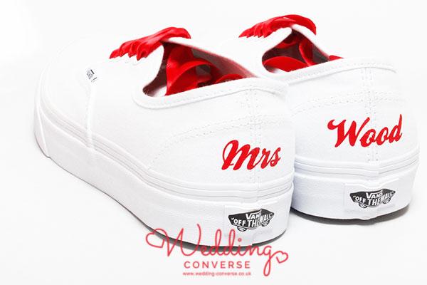 vans personalised shoes