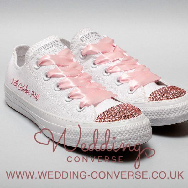 pink wedding converse