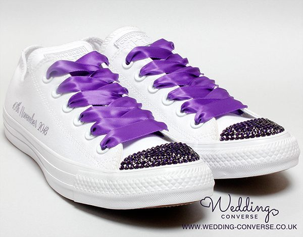 purple bride converse