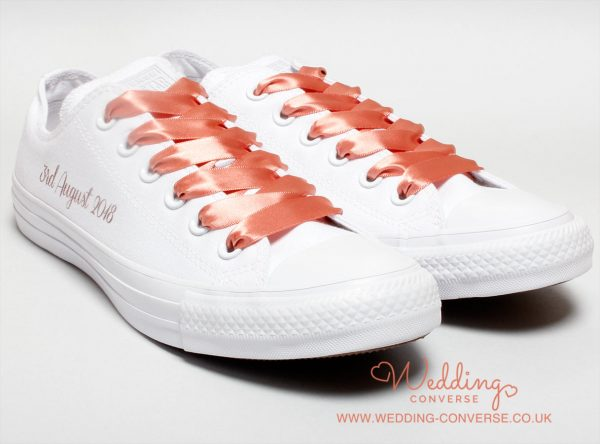 rose gold wedding converse