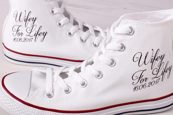 hi top converse wedding shoes