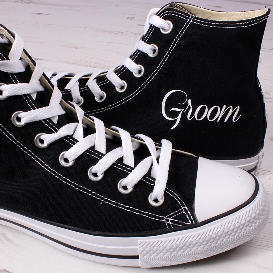 745c3ece010a Groom High Tops - Add Wedding Date - Wedding Converse