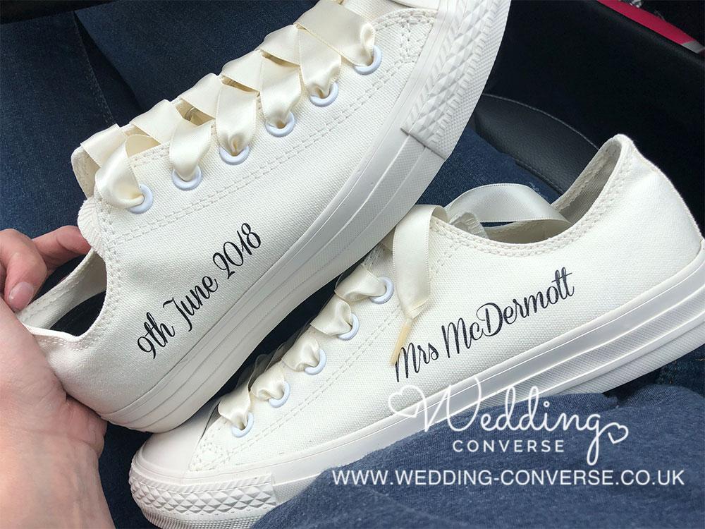 b310649c8bea Ivory Wedding Converse - Wedding Converse