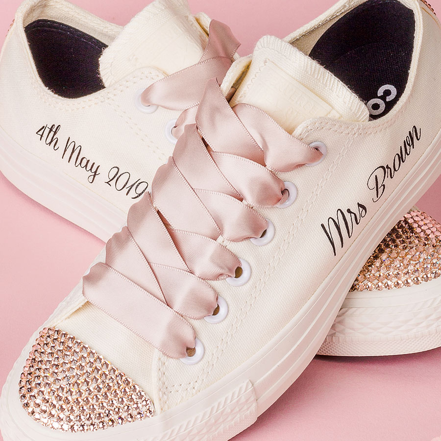 464d678deaed Ivory Wedding Converse - Wedding Converse