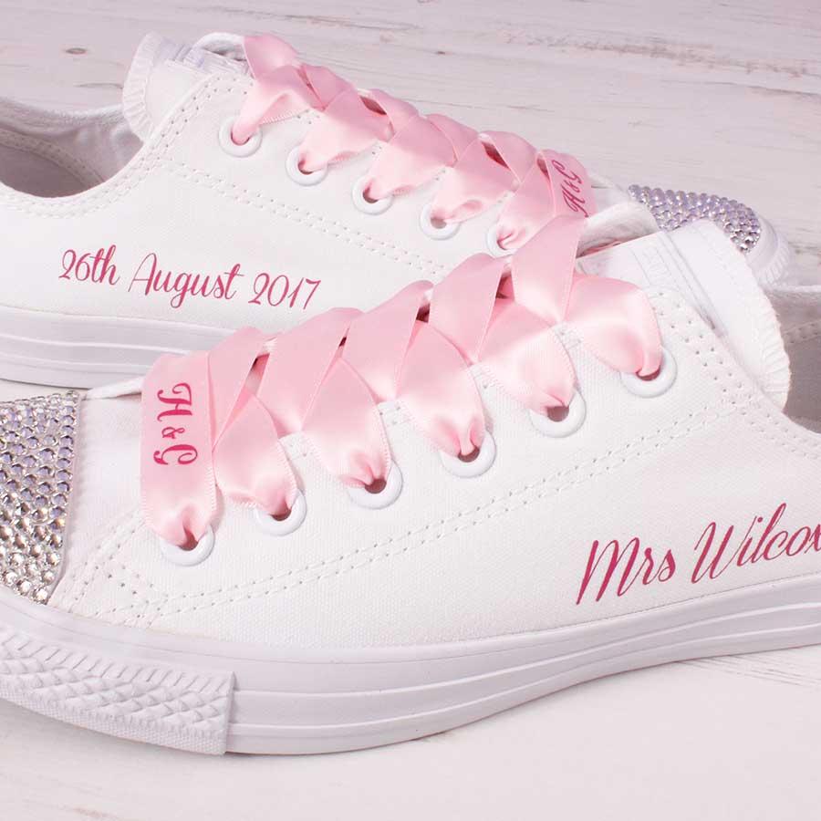 e68b81d820e1 Pink Wedding Converse Mono - Wedding Converse