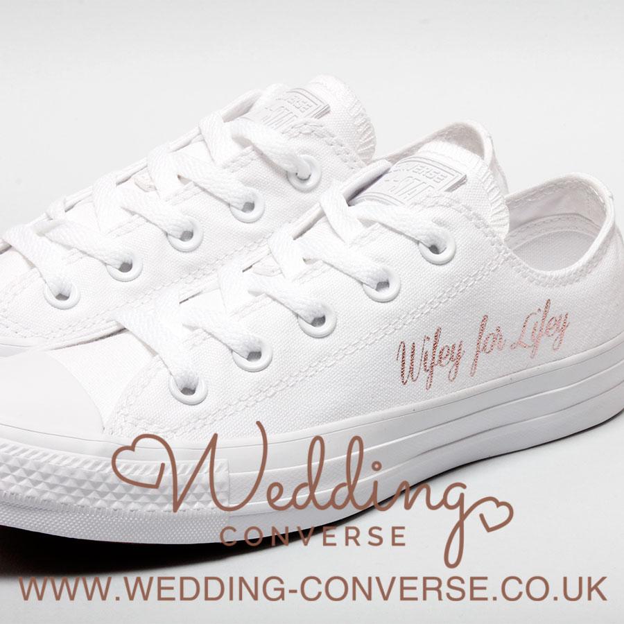 Wifey For Lifey Shoes - Wedding Converse - Wedding Converse b7db7c72c085