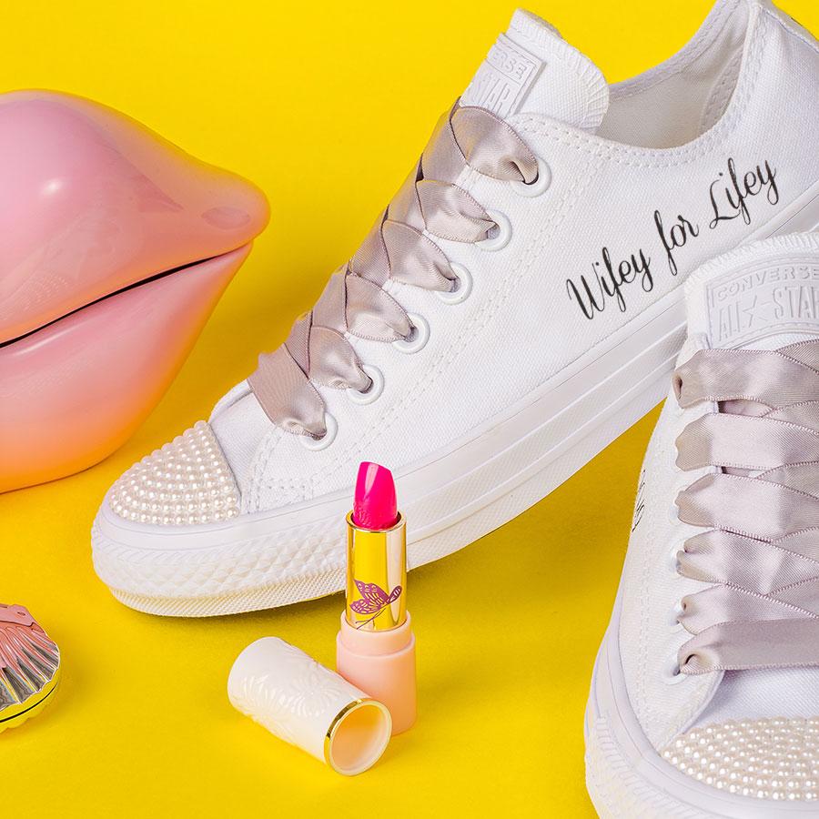 a6c223b4daa8 Wifey For Lifey Shoes - Wedding Converse - Wedding Converse