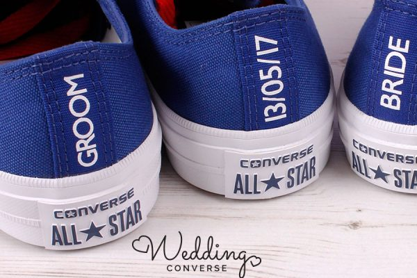 His and Hers Wedding Converse
