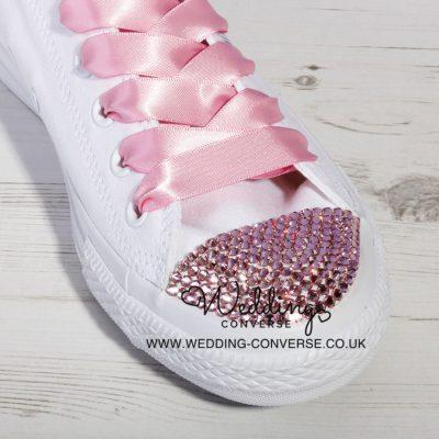 Pink Custom Crystal Converse