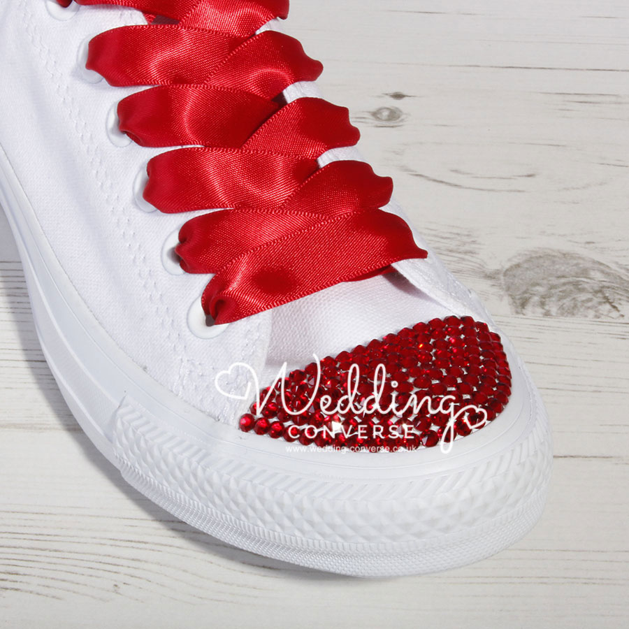 f6e9f69f63f2 Red Custom Crystal Converse l Swarovski Converse Shoes
