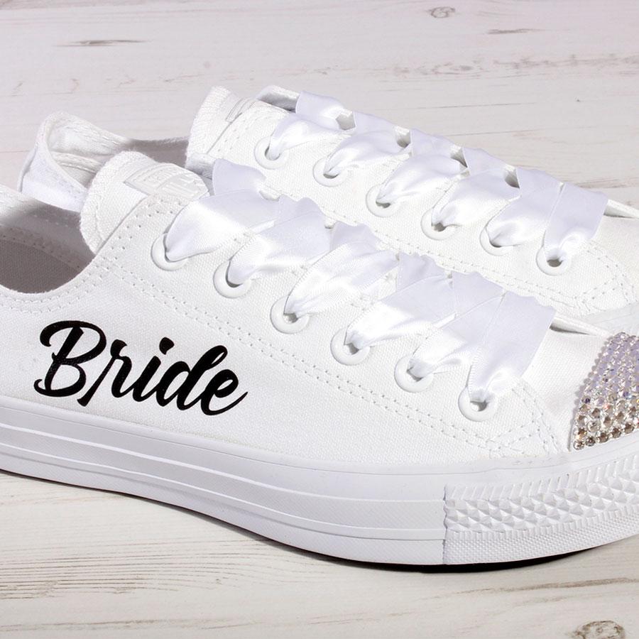 a208cc603b43 Wedding Trainers for Bride (Large Script) - Wedding Converse