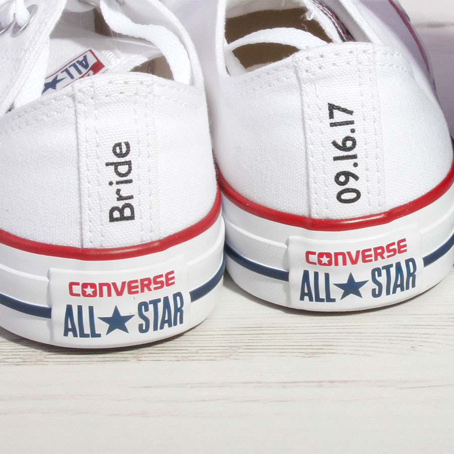 Bride or Groom Custom Converse Heel Tag - Wedding Converse