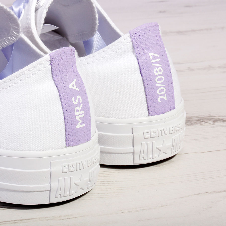Custom Made Bridal Shoes Uk: Lilac Purple Bride Converse