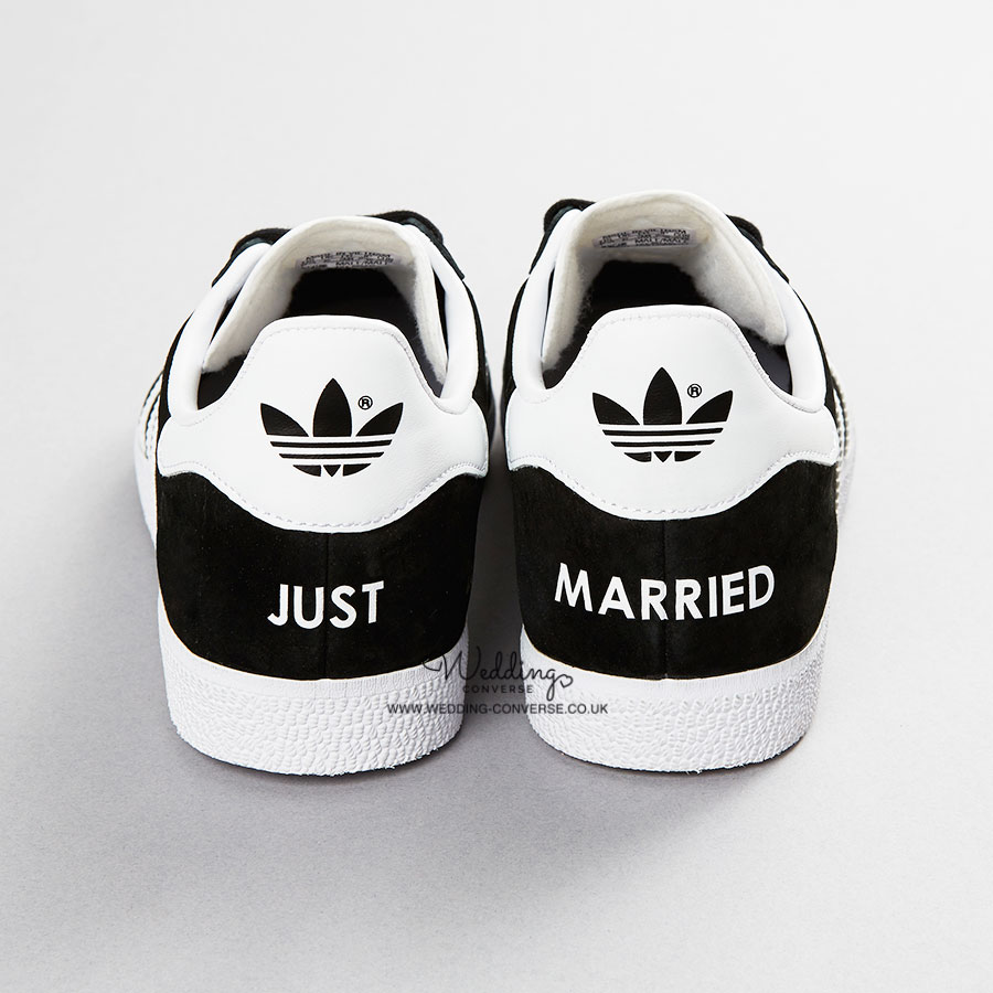 5598e77ad595 Just Married Adidas Wedding Trainers Gazelle - Wedding Converse