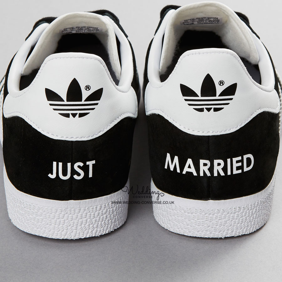 1bd47047a2a9 Just Married Adidas Wedding Trainers Gazelle - Wedding Converse
