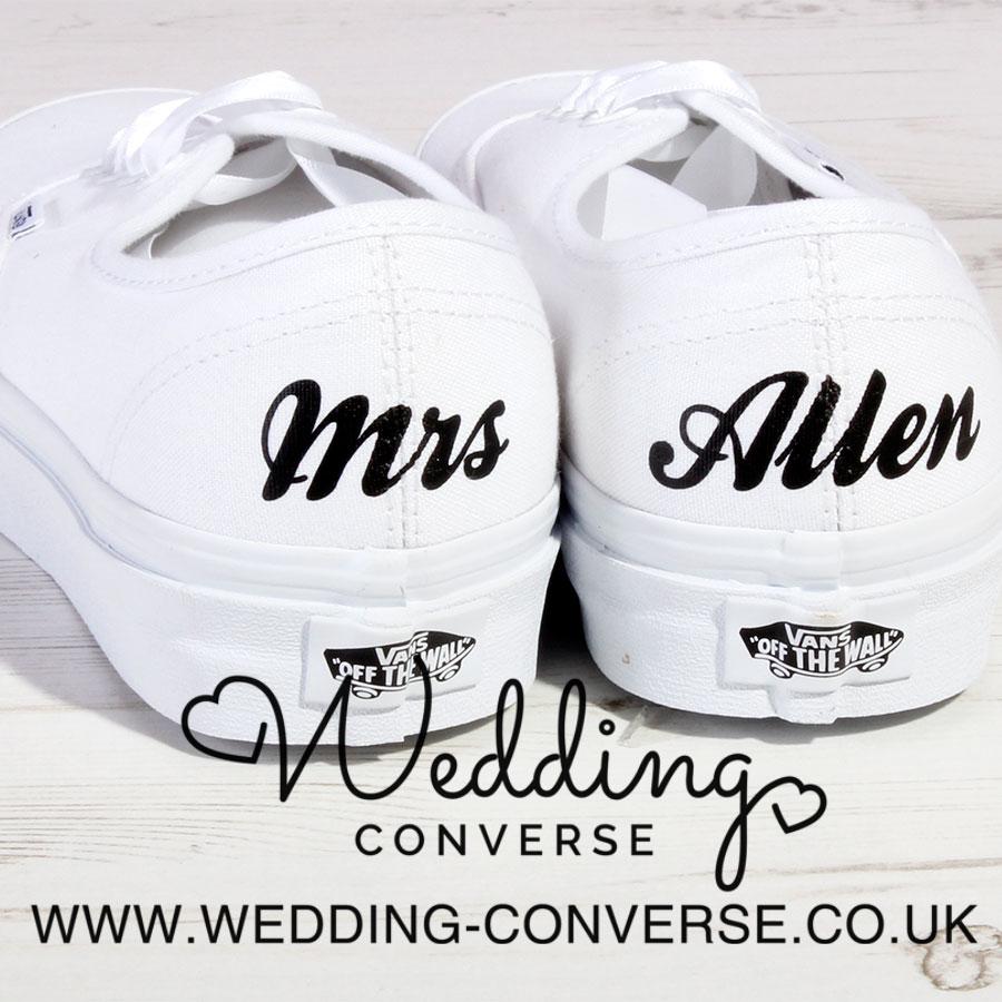Custom Bride VANS Shoes