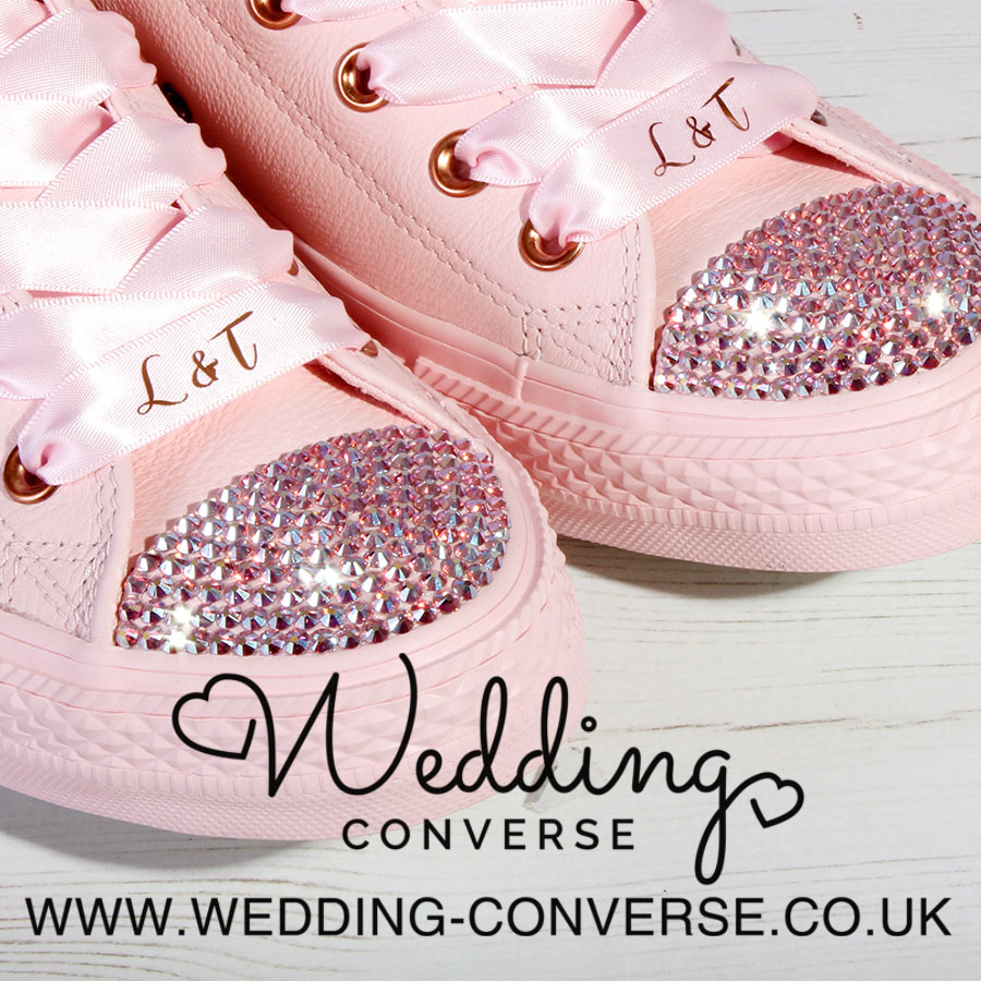 rose gold wedding converse shoes