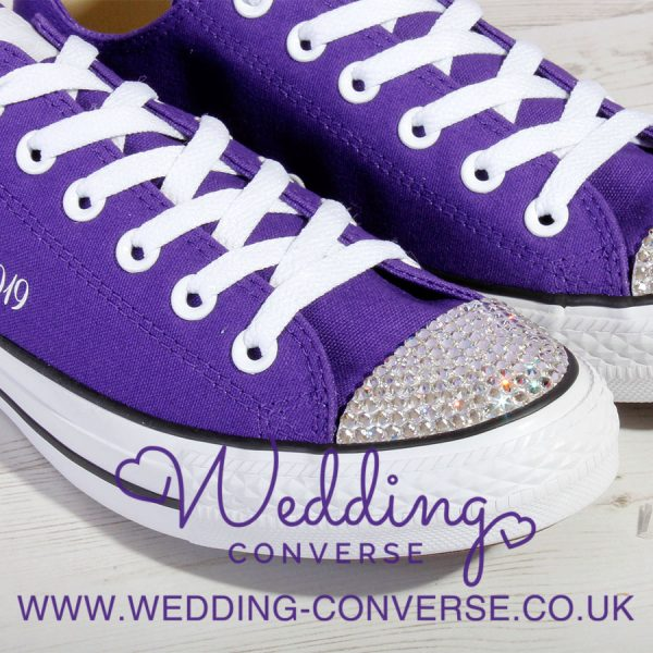 Cadbury Purple Wedding Converse