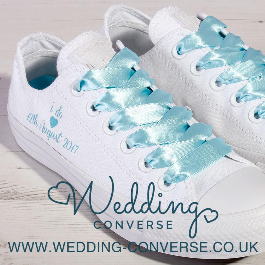 Tiffany Blue Wedding Converse