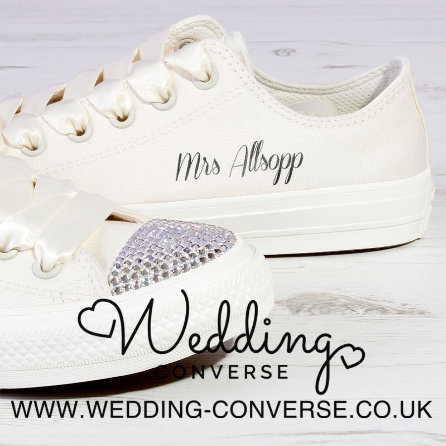 Personalised Bride Converse