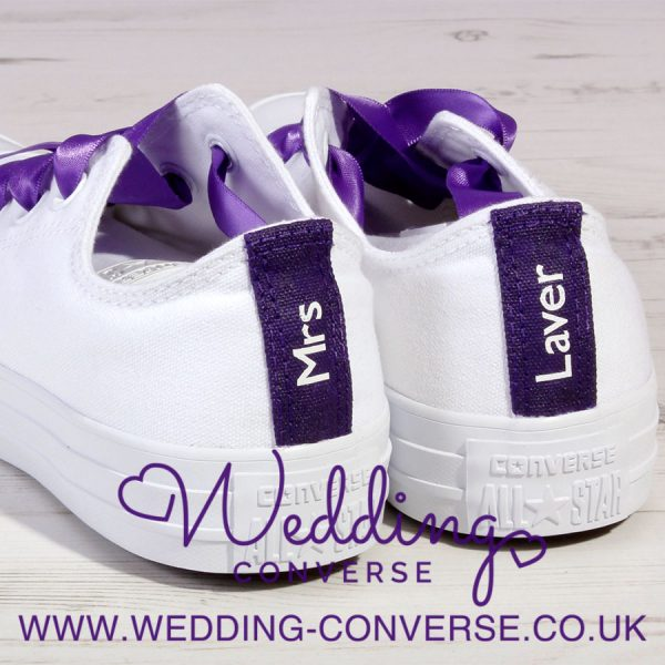Purple Wedding Converse