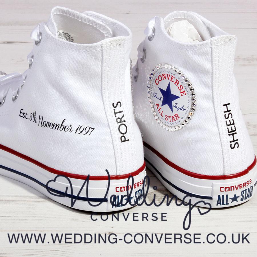 Bling Wedding Converse