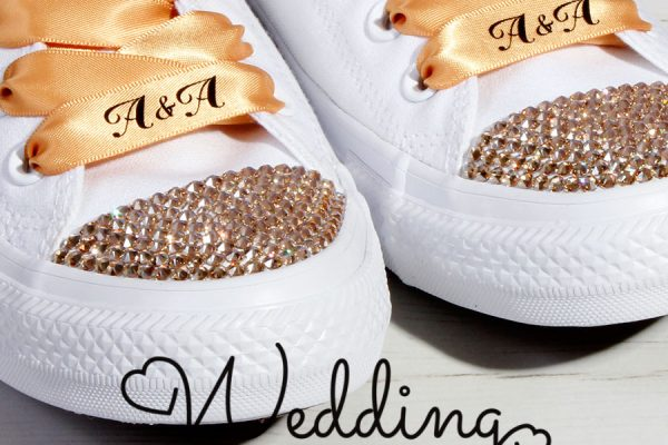 Gold Wedding Converse