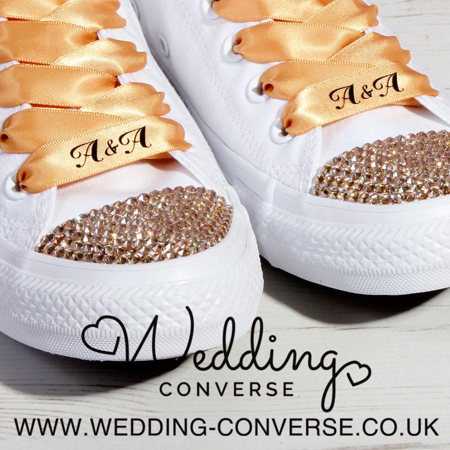 Gold Wedding Converse
