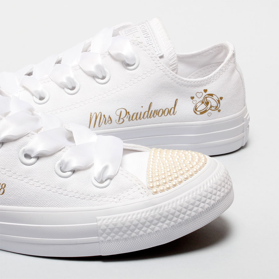 b3b271484502 Personalised Bridal Shoes l Personalise your Wedding Converse