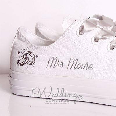 personalised bridal shoes