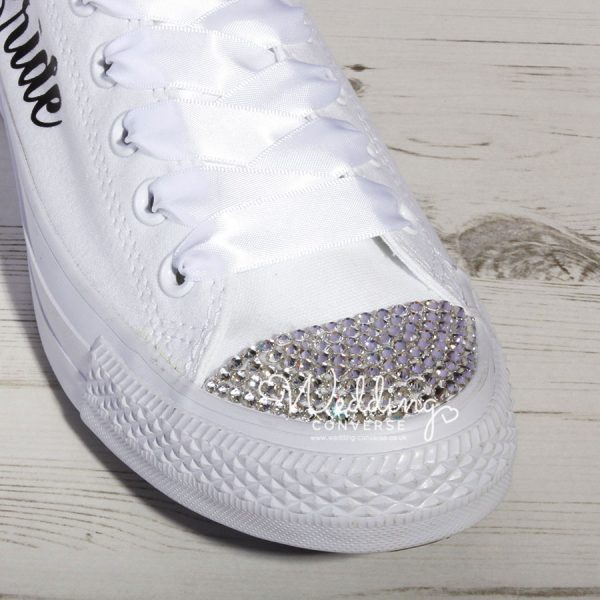 bling converse trainers