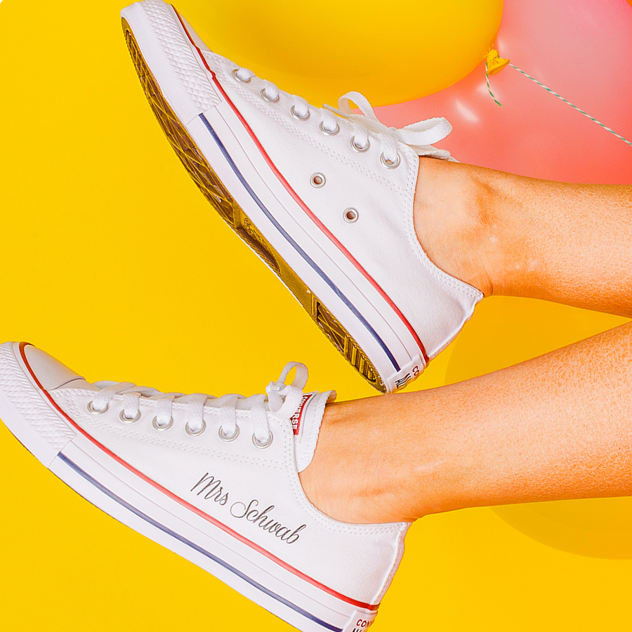 447a5aef8d40 Classic Ox Personalised Bride Converse - Wedding Converse