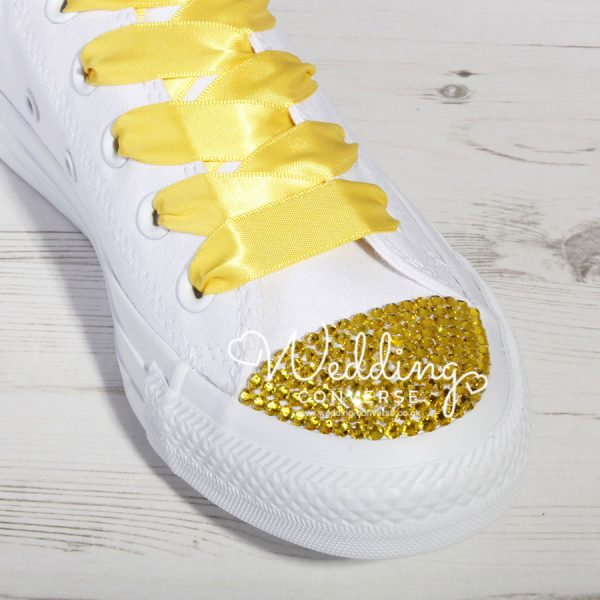 yellow wedding converse