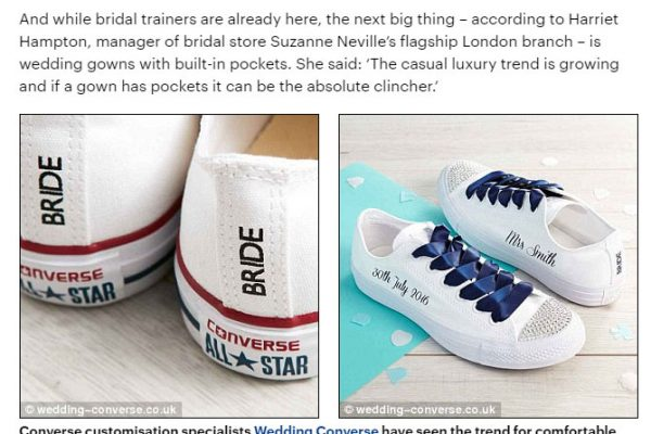 bride trainers