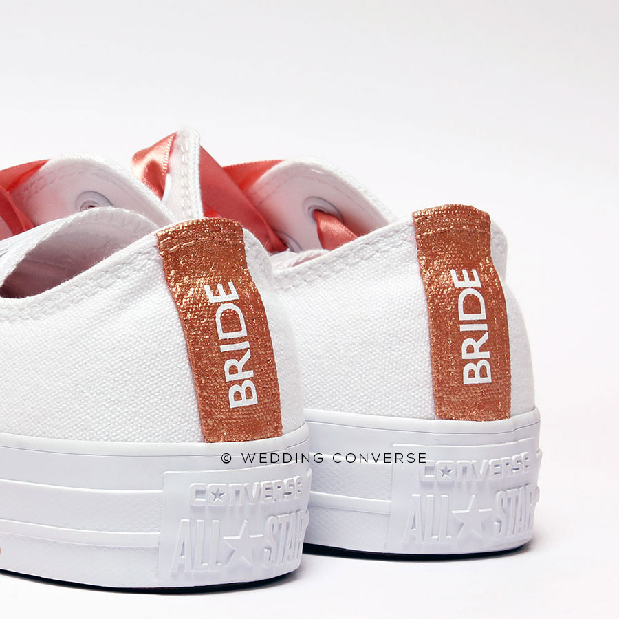 75f99ad39663 Rose Gold Wedding Converse l Rose Gold Wedding Shoes